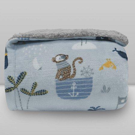 Cobertor Kids 1,27x1,52 Sherpa - Pirata Azul