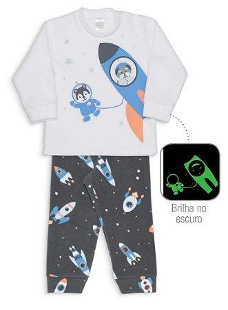 Pijama Microsoft Foguetes Infantil Dedeka