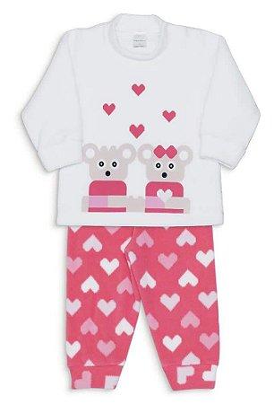 Pijama Microsoft Corações Pixelados Dedeka