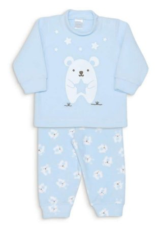 Pijama Microsoft Bichinhos de Pano Azul Dedeka