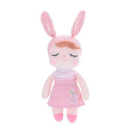 Boneca Mini Doll Angela Jardineira Rosa 20cm Metoo
