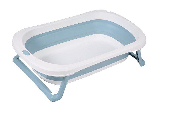 Banheira Dobrável Pequena Baby Pil - Azul