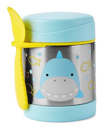 Pote Térmico com Talher Zoo Tubarão Skip Hop