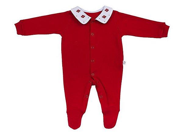 Macacao Luxo Menino Vermelho D`bella for Baby