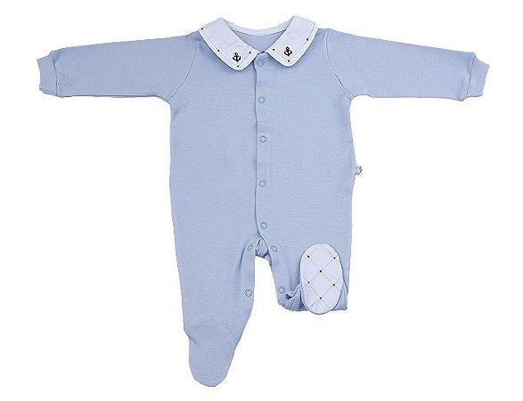 Macacao Luxo Menino Azul Claro D`bella for Baby