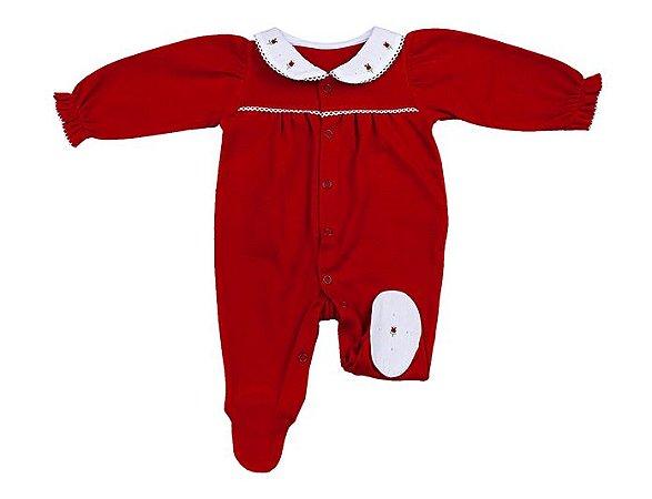 Macacão Luxo Menina Vermelho D`Bella for Baby