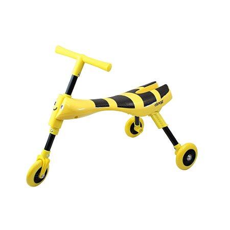 Triciclo Dobrável Amarelo/Preto - Clingo