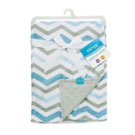 Cobertor Infantil Onda Azul - Clingo