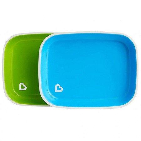 Conjunto de Pratos Splash Verde e Azul- Munchkin