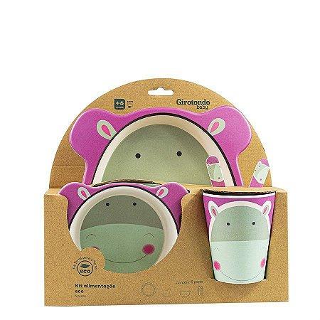 Kit Alimentação Hipopótamo 5 Pcs Eco - Girotondo Baby