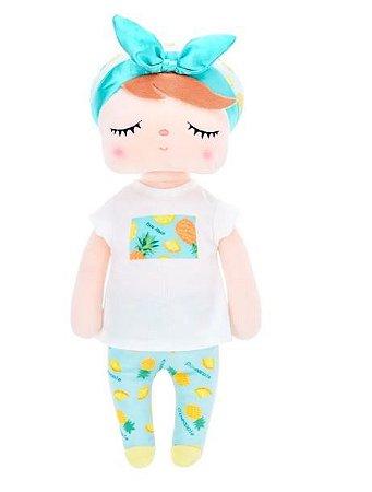 Boneca Angela Fruta 33cm - Abacaxi - Metoo