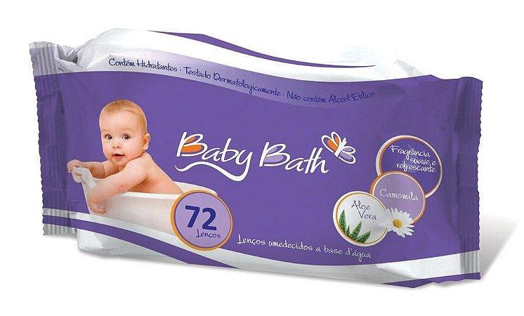 Lenços Umedecidos com 72 unidades - Baby Bath