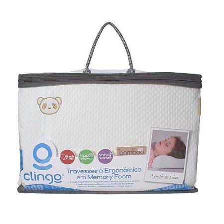 Travesseiro Ergonômico Memory Foam - Clingo