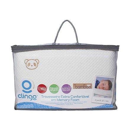 Travesseiro Memory Foam - Fibra de Bambu - Clingo