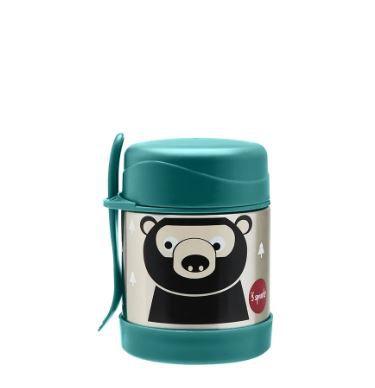 Pote Térmico Inox com Talher Urso 3 Sprouts