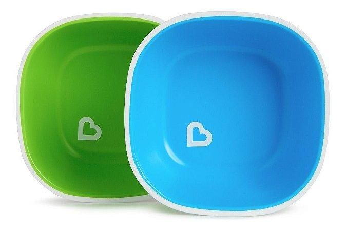 Conjunto de Tigelas Splash- Munchkin Verde e Azul