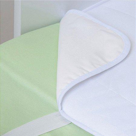 Protetor Acolchoado de Colchão Tamanho Americano 130x70cm Branco