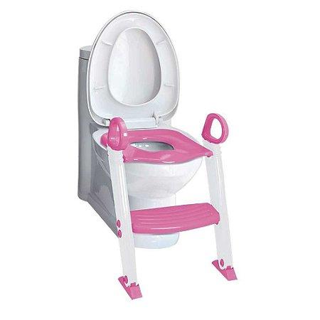Redutor de Assento Sanitário com Degrau - Clingo Rosa