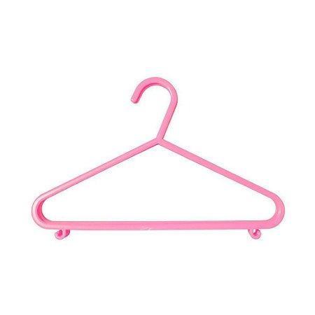 Cabide Plástico Infantil 6pçs - Clingo Rosa