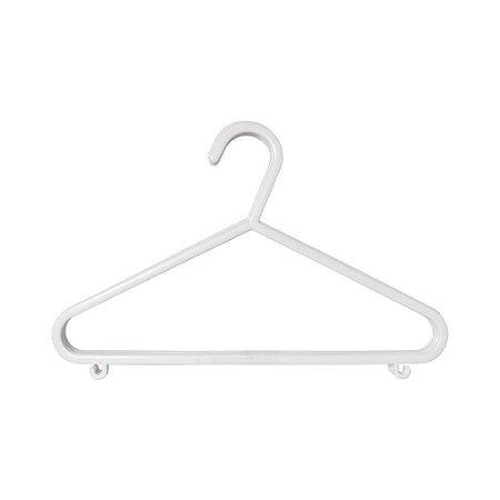 Cabide Plástico Infantil 6pçs - Clingo Branco