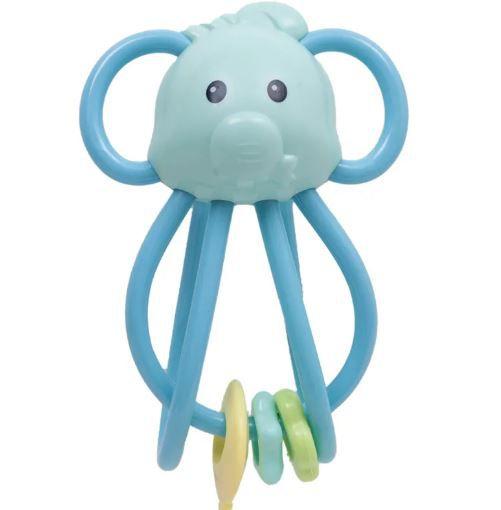 Chocalho Elefantinho Divertido Azul Buba