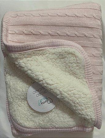 Cobertor Fofinho Mami Tricot 1,10x75cm Rosê