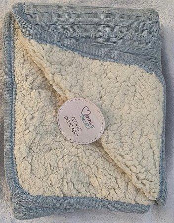 Cobertor Fofinho Mami Tricot 1,10x75cm Azul
