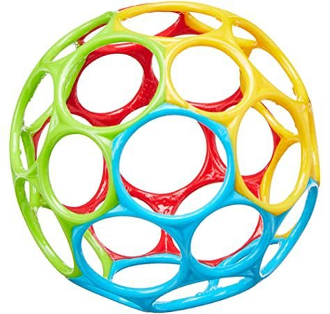 "Bola Oball Classic 4"" Red Yellow Green Blue  - Bright Starts"