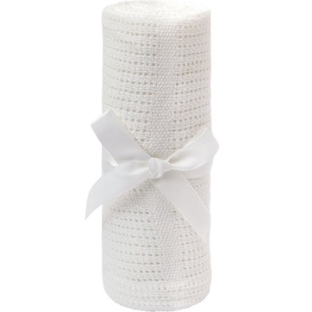 Mantinha Tricô Baby - Branco Buba