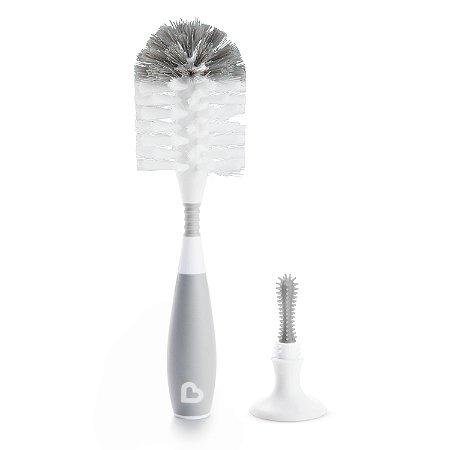 Escova Flexível com Ventosa - Munchkin Cinza
