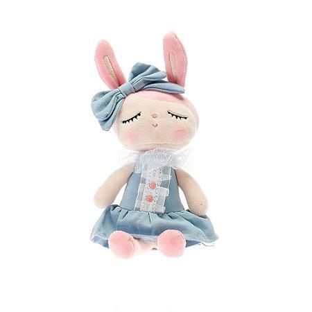 Boneca Mini Doll Angela Liz Azul 20cm Metoo