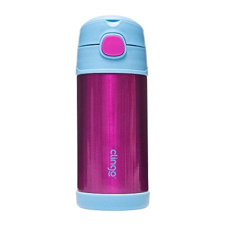 Garrafa Térmica Inox Azul Pink Clingo