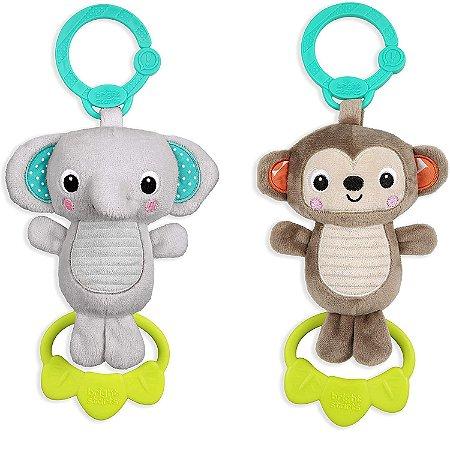 Pelúcia de Pendurar Tug Tunes Elefante e Macaquinho Bright