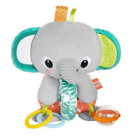 Pelúcia Elefante Mordedor e Chocalho Explore e Cuddle Bright