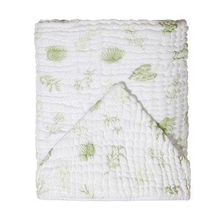 Toalha de Banho Soft c/ Capuz 115x85 Mami Folhagem Verde