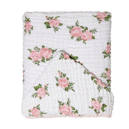 Toalha de Banho Soft c/ Capuz 115x85 Mami Rosas