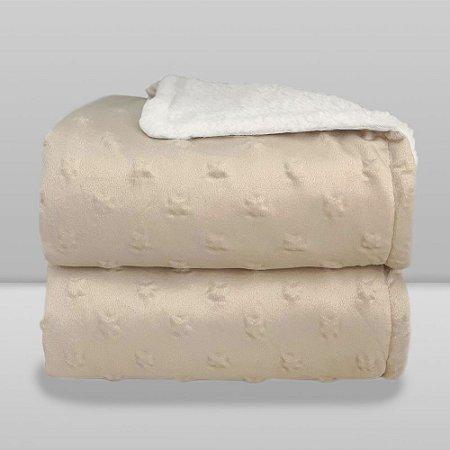 Cobertor Infantil 0,90X1,10 Sherpa Stars Bege