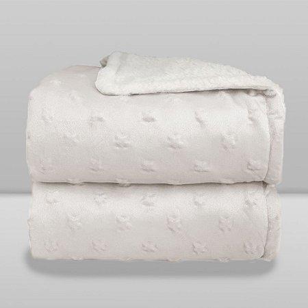 Cobertor Infantil 0,90X1,10 Sherpa Stars Branco