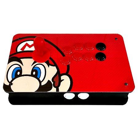 Controle Bancada Arcade Fliperama PC Raspberry Android Tv Box Tema Super Mario