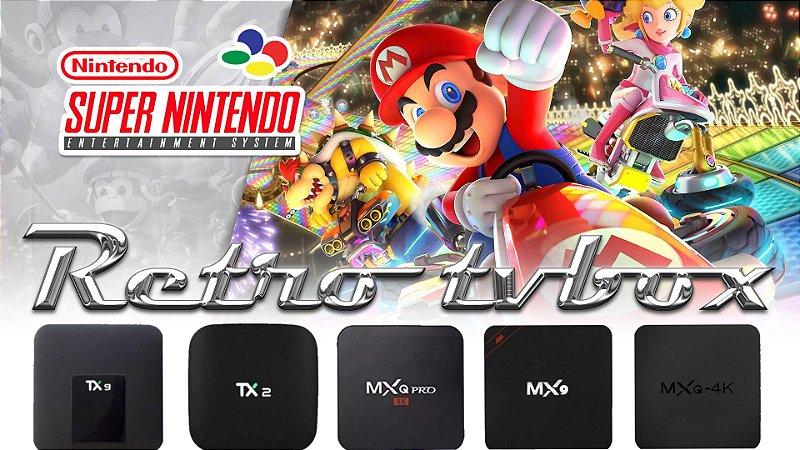 Emulador Super Nintendo instalado na memória interna do aparelho MXQ Pro 4K MX9 TX2 TX6 TX3 TX9