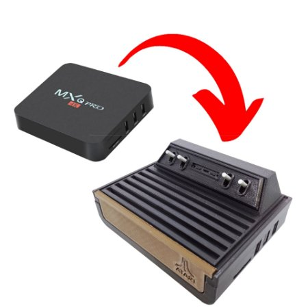 Case ABS Premium Modelo Atari 2600 Para MXQ Pro MX9 e derivadas