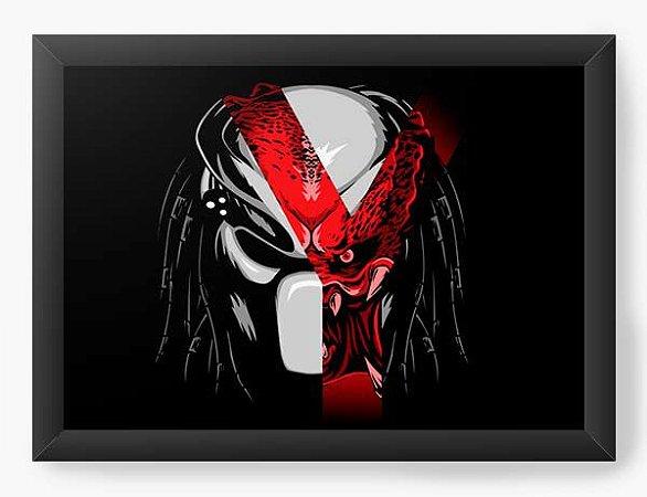 Quadro Decorativo A4 (33X24) Geekz Alien vs Predador - Loja Nerd e Geek - Presentes Criativos