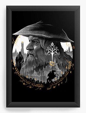 Quadro Decorativo A4 (33X24) Geekz Senhor do anéis - Loja Nerd e Geek - Presentes Criativos