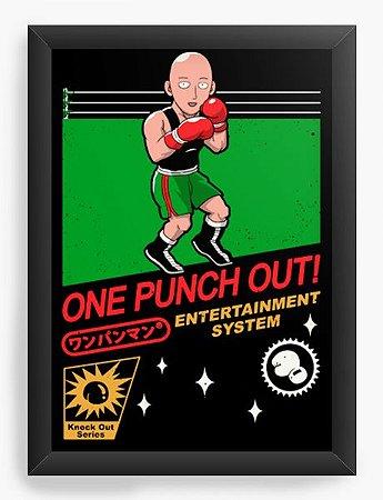 Quadro Decorativo A4 (33X24) Geekz One Punch out! - Loja Nerd e Geek - Presentes Criativos