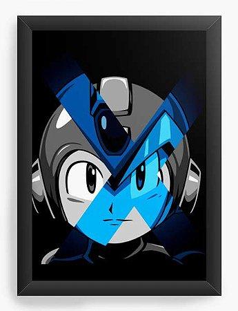 Quadro Decorativo A4 (33X24) Geekz Mega Man - Loja Nerd e Geek - Presentes Criativos