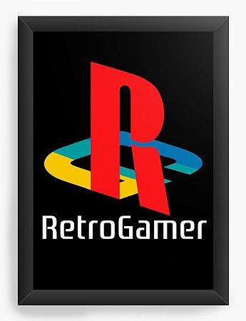 Quadro Decorativo A4 (33X24) Geekz Retro Game - Loja Nerd e Geek - Presentes Criativos