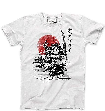 Camiseta Masculina Super Plumber Samurai - Loja Nerd e Geek - Presentes Criativos