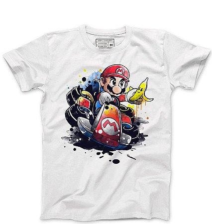 Camiseta Masculina Super Plumber Kart - Loja Nerd e Geek - Presentes Criativos