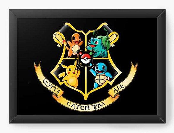 Quadro Decorativo A4 (33X24) Geekz Pokemon - Loja Nerd e Geek - Presentes Criativos