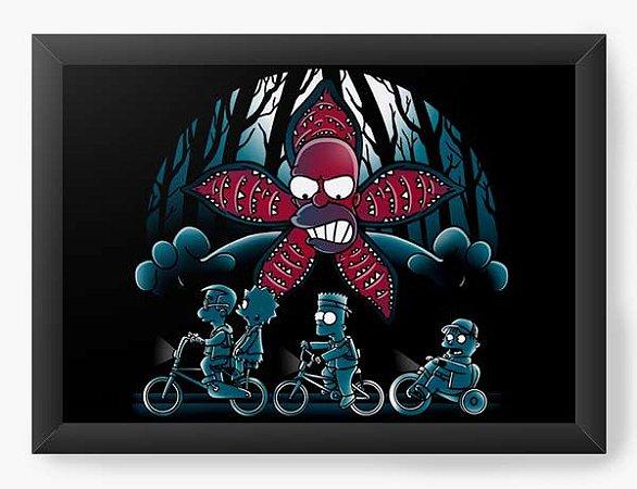 Quadro Decorativo A4 (33X24) Geekz Stranger  - Loja Nerd e Geek - Presentes Criativos